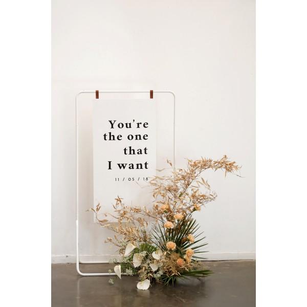 Panneau de bienvenue mariage avec message original