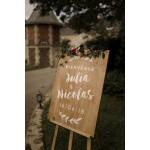 Panneau de bienvenue mariage folk