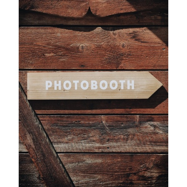 Fleche directionnelle photobooth mariage