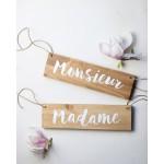 Panneau Madame Monsieur